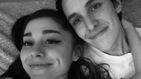 Ariana Grande Is Engaged to Boyfriend Dalton Gomez Black and White