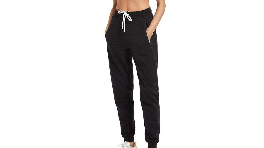 PULI Women Workout Sweatpants Cotton Jogger