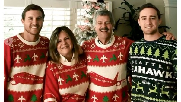 Peter Weber Celebs Ugly Christmas Sweaters