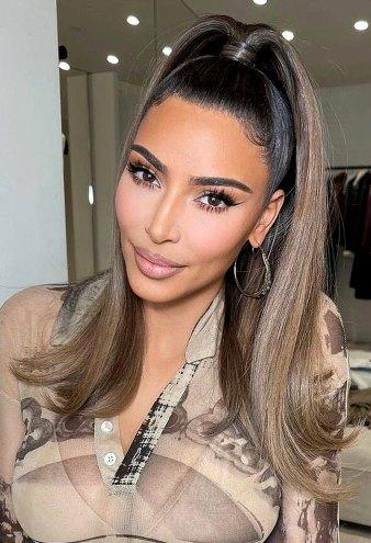 Kim Kardashian Debuts New Hairstyle Amid Kanye West Marital Woes