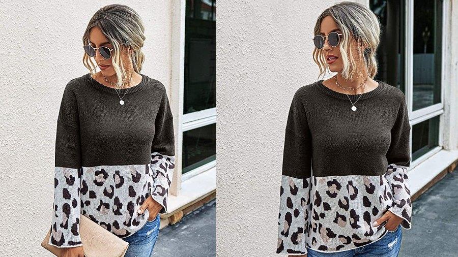PRETTYGARDEN Women's Casual Striped Color Block Knit Sweater