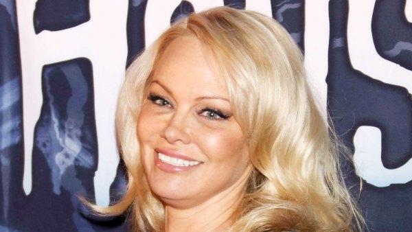 Pamela Anderson Almost Got Married Silk Pajamas