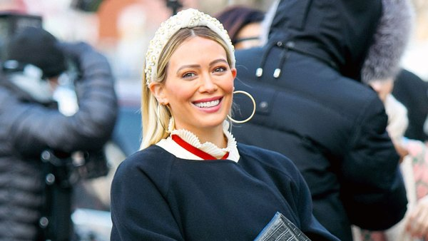 Pregnant Hilary Duff Shows Baby Bump Progress on Younger Set