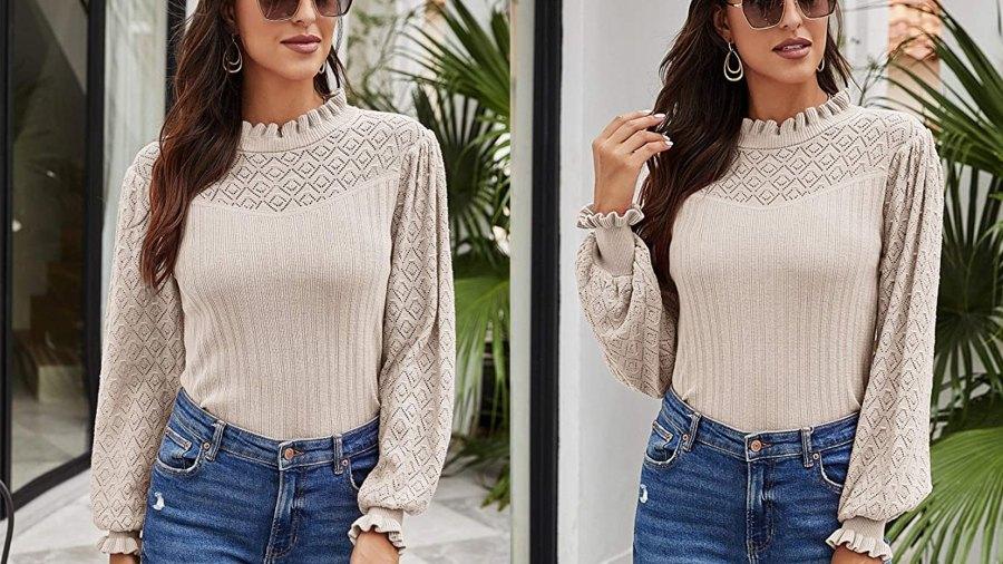 Romanstii Women's Sweater Lightweight Pullover 100% Cotton Knit Top