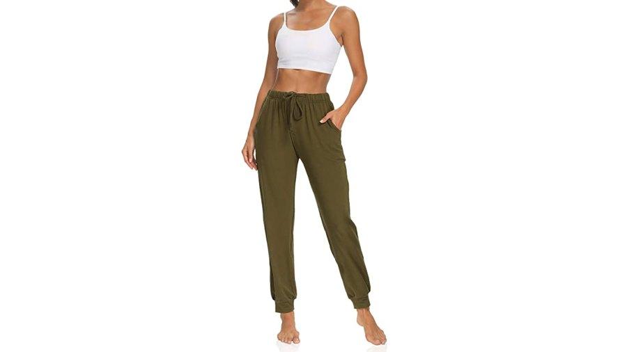 KEEPBEAUTY Women's Yoga Pants Drawstring Comfy Lounge Loose Workout Joggers