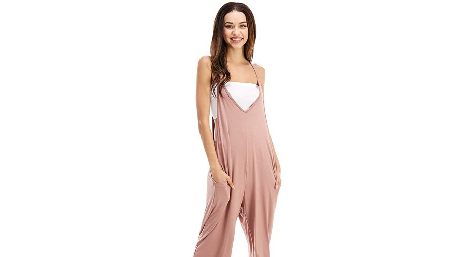 Loving People Loose Fit Casual Capri Jumpsuit Rompers