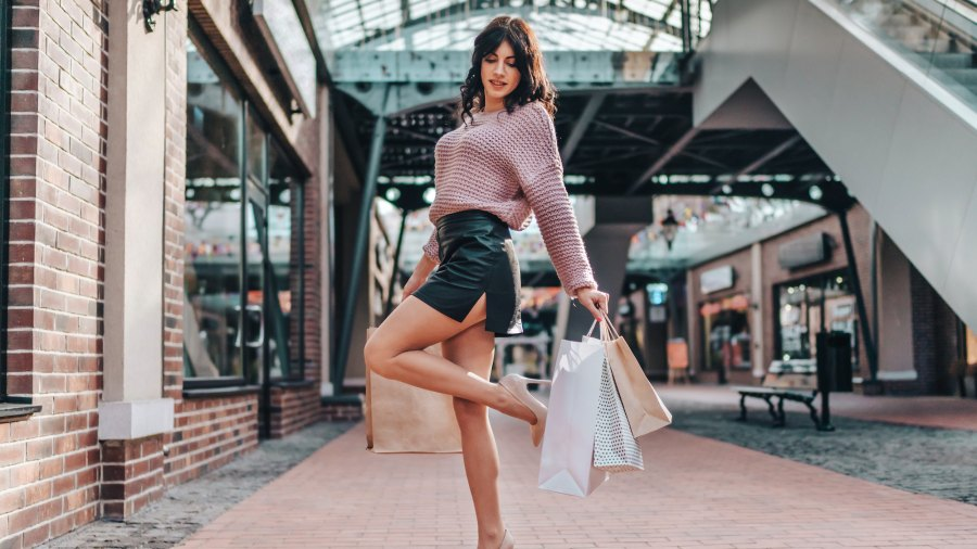 Leather-Mini-Skirt-Stock-Photo