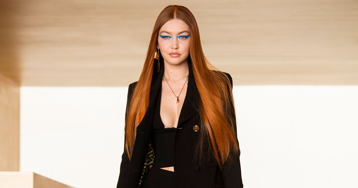 Gigi Hadid Returns to the Runway With Fiery Red Hair Inspired by Beth Harmon From 'Queen's Gambit': Watch