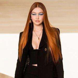 Watch Gigi Hadid Return to the Runway With Fiery Red Hair