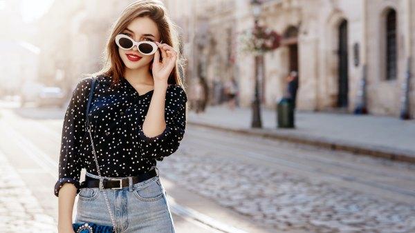 Woman-Wearing-Blouse-Stock-Photo