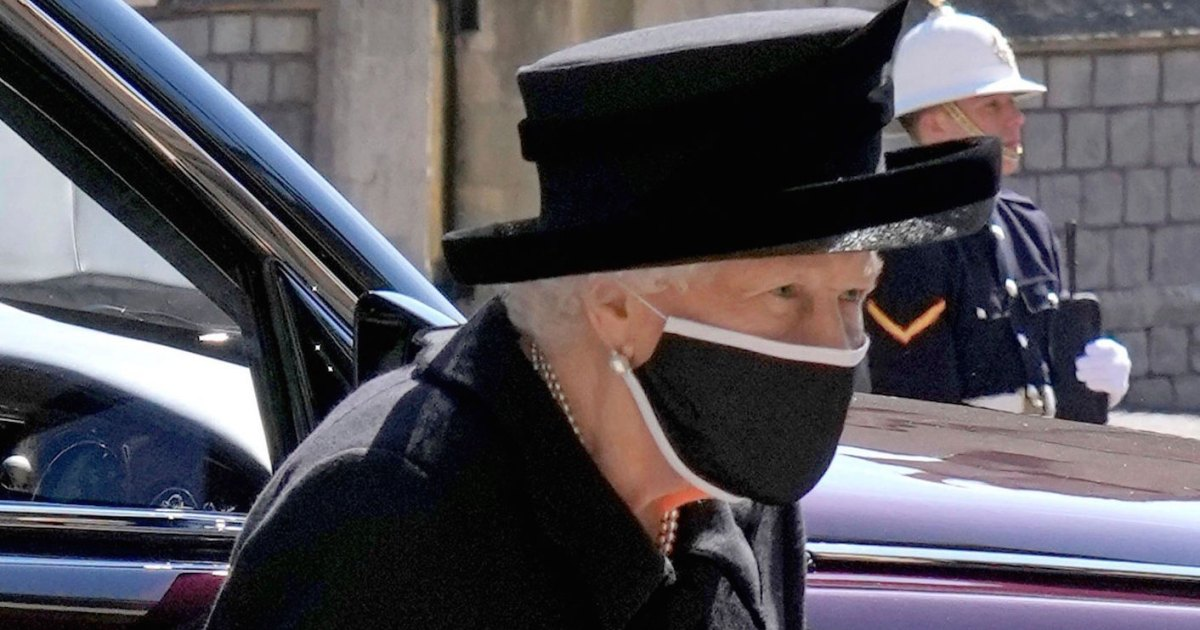 Queen Elizabeth II Wipes Tears From Her Eyes at Prince Philip's Funeral