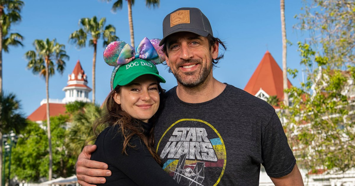 Shailene Woodley and Aaron Rodgers Pose for Adorable Photos at Disney World