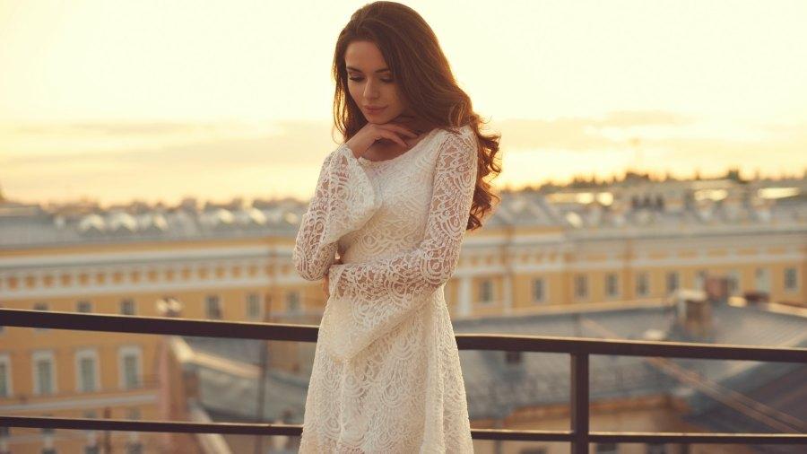 White-Lace-Dress-Stock-Photo