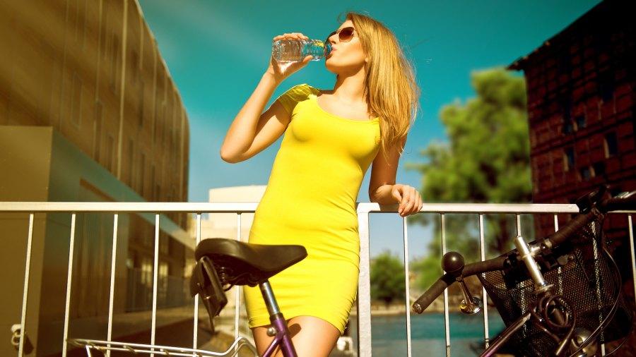 Yellow-Dress-Stock-Photo