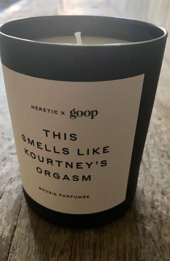 Um, Travis Barker Has a Goop Candle That 'Smells Like Kourtney's Orgasm'