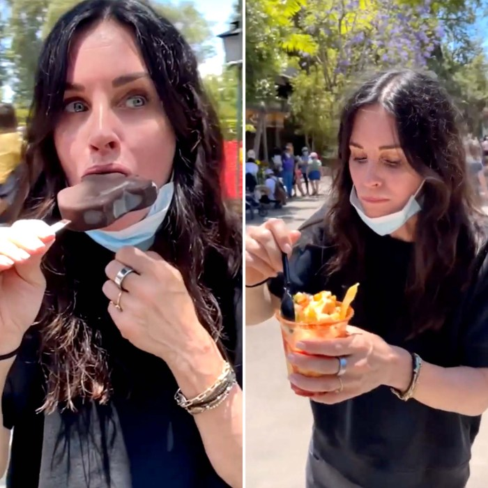 Courteney Cox Eating Her Way Through Disneyland Is Summertime Mood