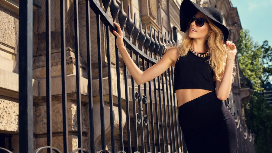 Two-Piece-Summer-Outfit-Stock-Photo