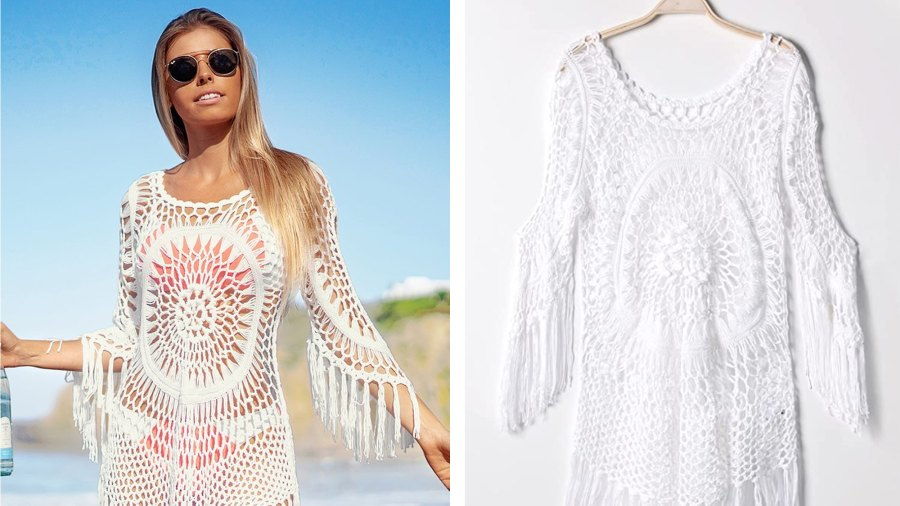 CUPSHE-Women's-Crochet-Hollow-Out-Tassel-Swimsuit-Cover-Up-2