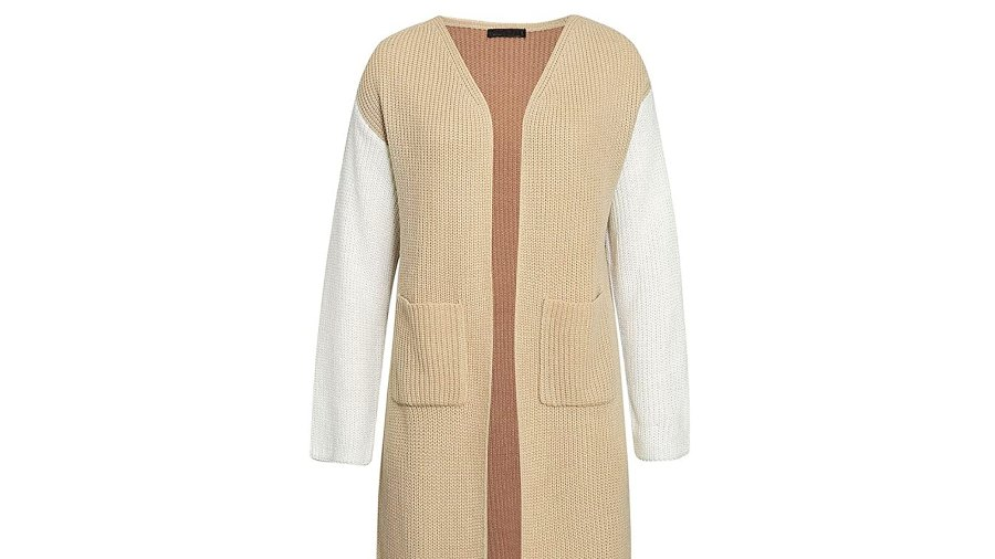 BerryGo Women's Long Sleeve Open Front Cardigan with Pockets