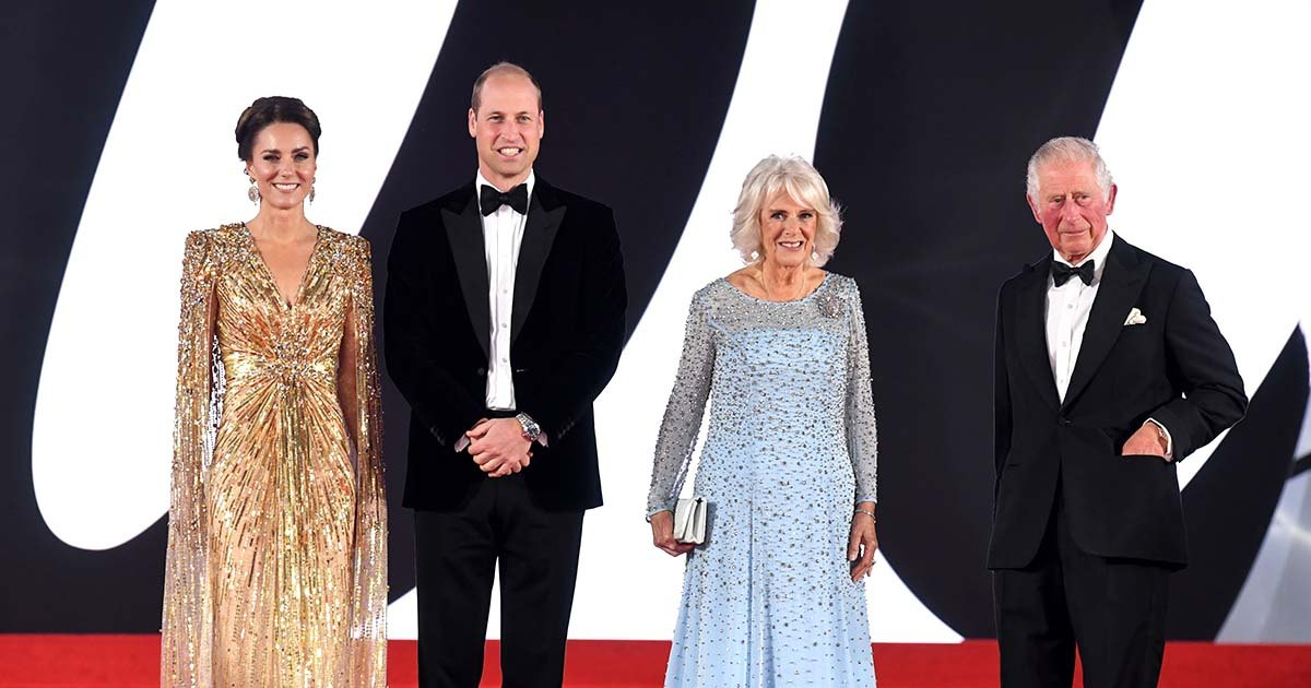 Red Carpet Royalty! Duchess Kate, Prince William and More Stars Stun at the 'No Time To Die' Premiere