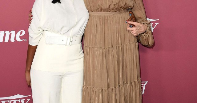 Angelina Jolie and Zahara, 16, Pose for Mother-Daughter Photos on Red Carpet at Variety's Power of Women.jpg