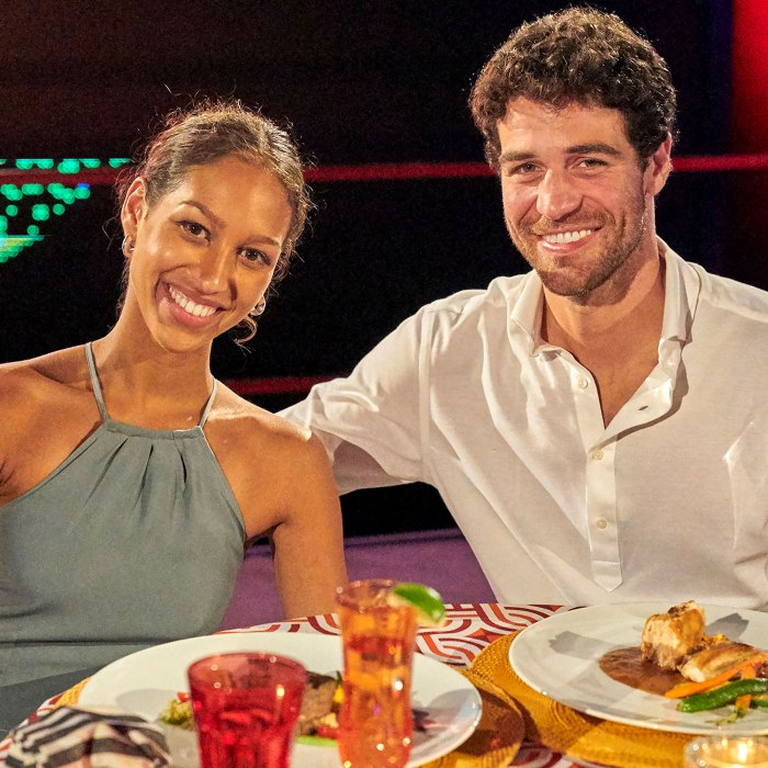 Clipback!  BIP's Serena Pitt entertained her fianc جو Joe Amabile over the age difference.