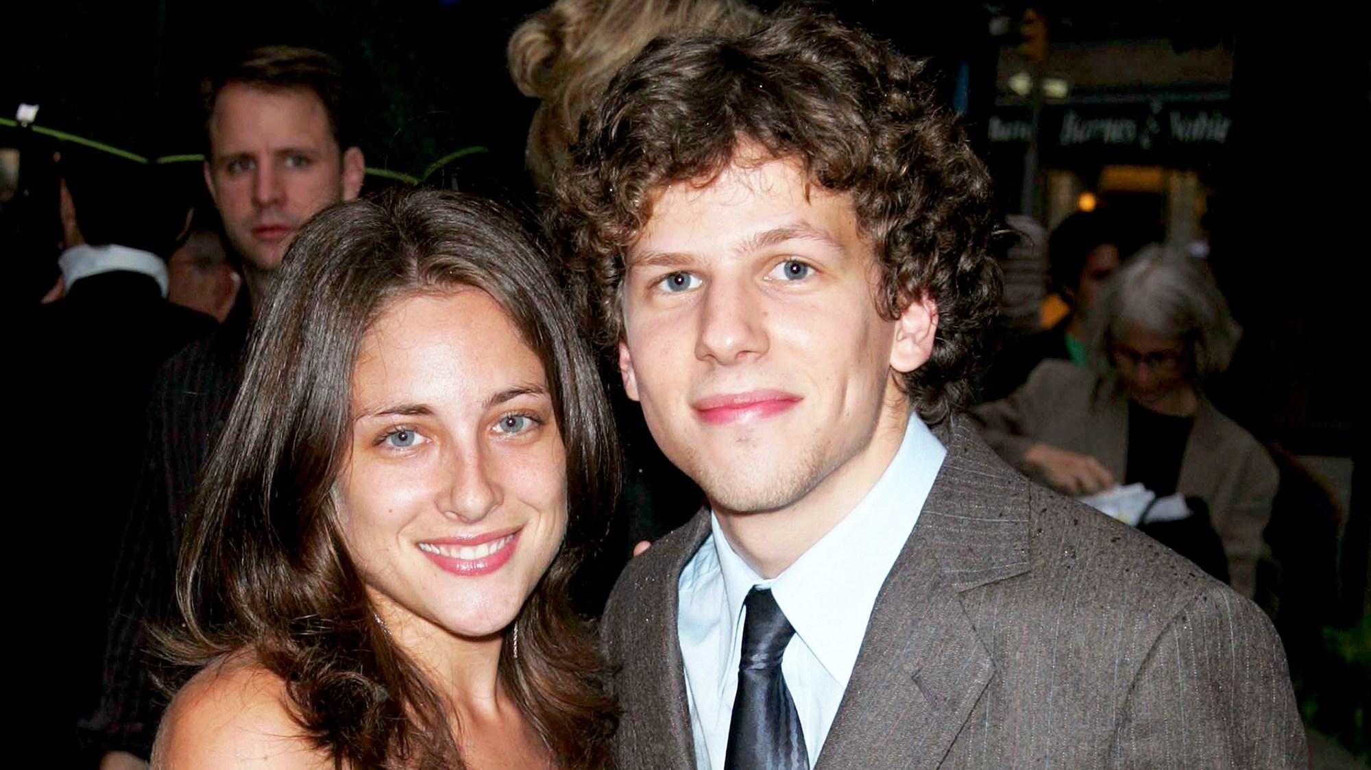 Jesse Eisenberg and Anna Strout