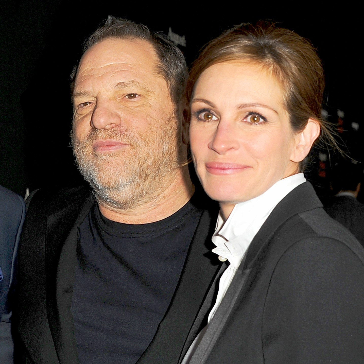 Harvey Weinstein and Julia Roberts