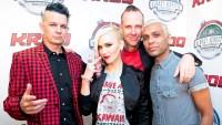 Adrian Young, Gwen Stefani, Tom Dumont and Tony Ashwin Kanal of No Doubt