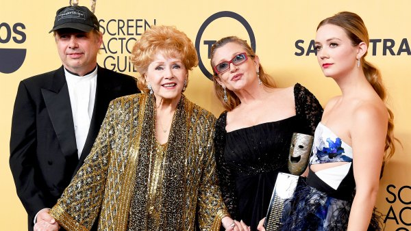 Todd Fisher, Debbie Reynolds, Carrie Fisher and Billie Lourd