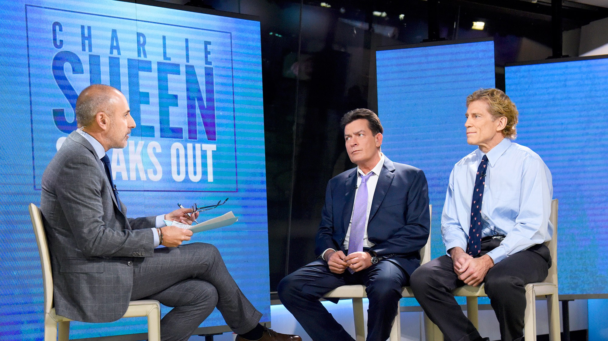 Matt Lauer, Charlie Sheen and Dr. Robert Huizenga