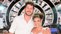Val Chmerkovskiy and Laurie Hernandez