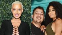 Amber Rose, Rob Kardashian and Blac Chyna