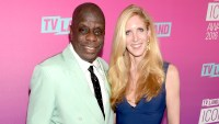 Jimmie Walker and political commentator Ann Coulter attend 2016 TV Land Icon Awards at The Barker Hanger on April 10, 2016 in Santa Monica, California.