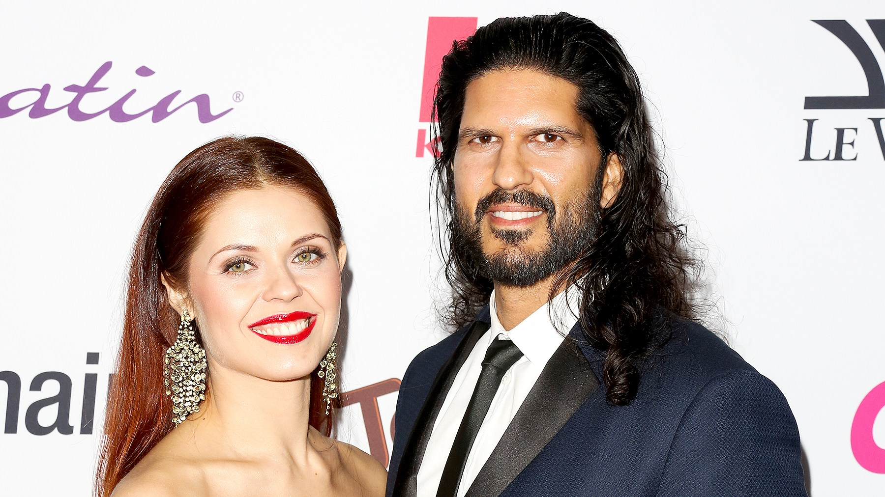 Anna Trebunskaya and Nevin Millan (R) attend OK! Magazine's annual pre-Oscar event at Nightingale Plaza on February 22, 2017 in Los Angeles, California.