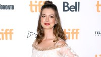 "Anne Hathaway arrives at the 2016 Toronto International Film Festival - ""Colossal"" premiere held at Ryerson Theatre on September 9, 2016 in Toronto, Canada."