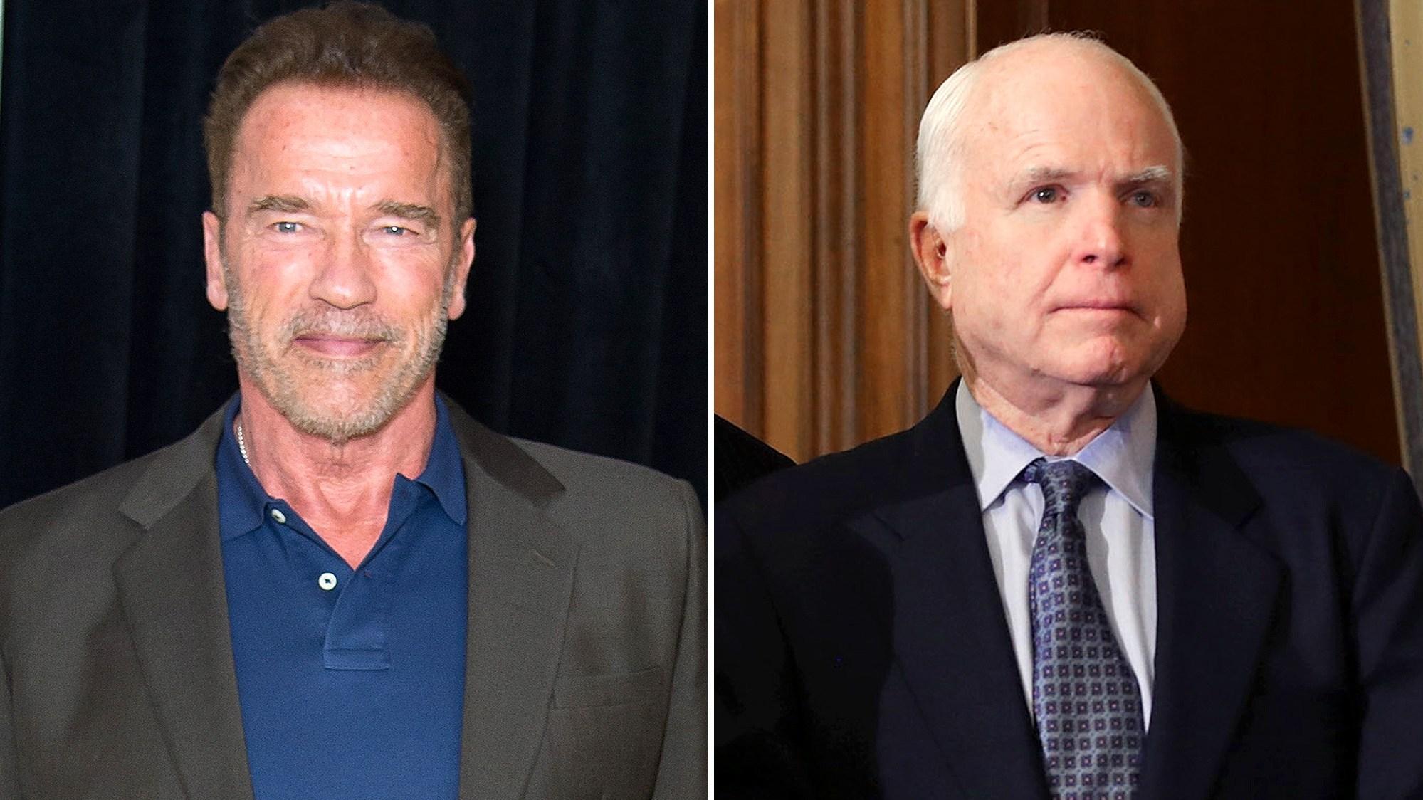 Arnold Schwarzenegger and John McCain