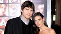 Ashton Kutcher and Demi Moore arrive at the premiere of New Line Cinema's 'Valentine's Day' at Grauman's Chinese Theatre on Feb. 8, 2010, in Hollywood.