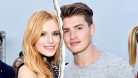 "Bella Thorne and Greg Sulkin attend the MTV and Dimension TV premiere of ""Scream"" at the Los Angeles Film Festival on June 14, 2015 in Los Angeles, California."