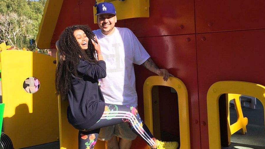 Rob Kardashian and Blac Chyna have fun at Legoland