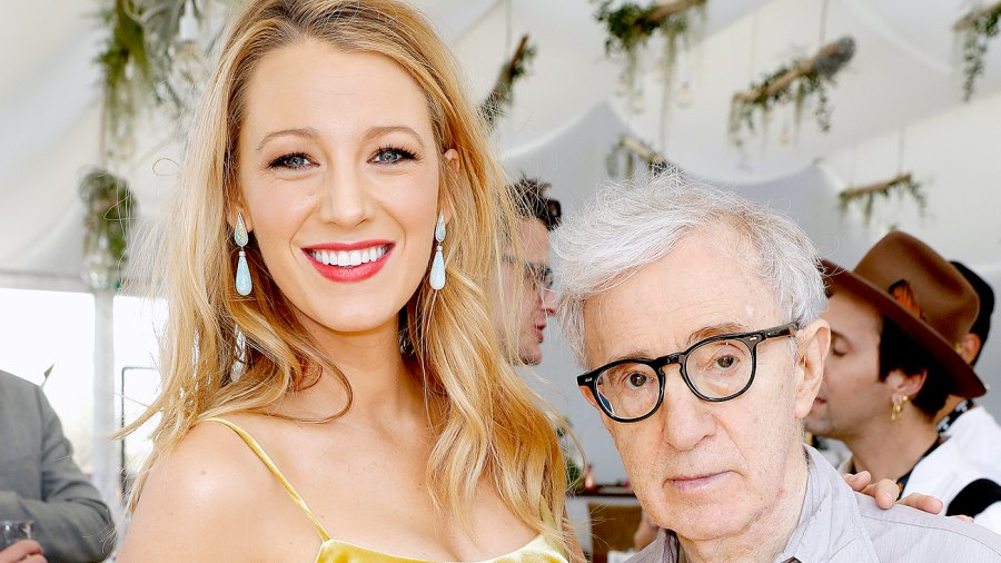 """Blake Lively and director Woody Allen attend the Amazon Studios """"Cafe Society"""" press luncheon during the 69th annual Cannes film festival on May 12, 2016 in Cannes, France."""