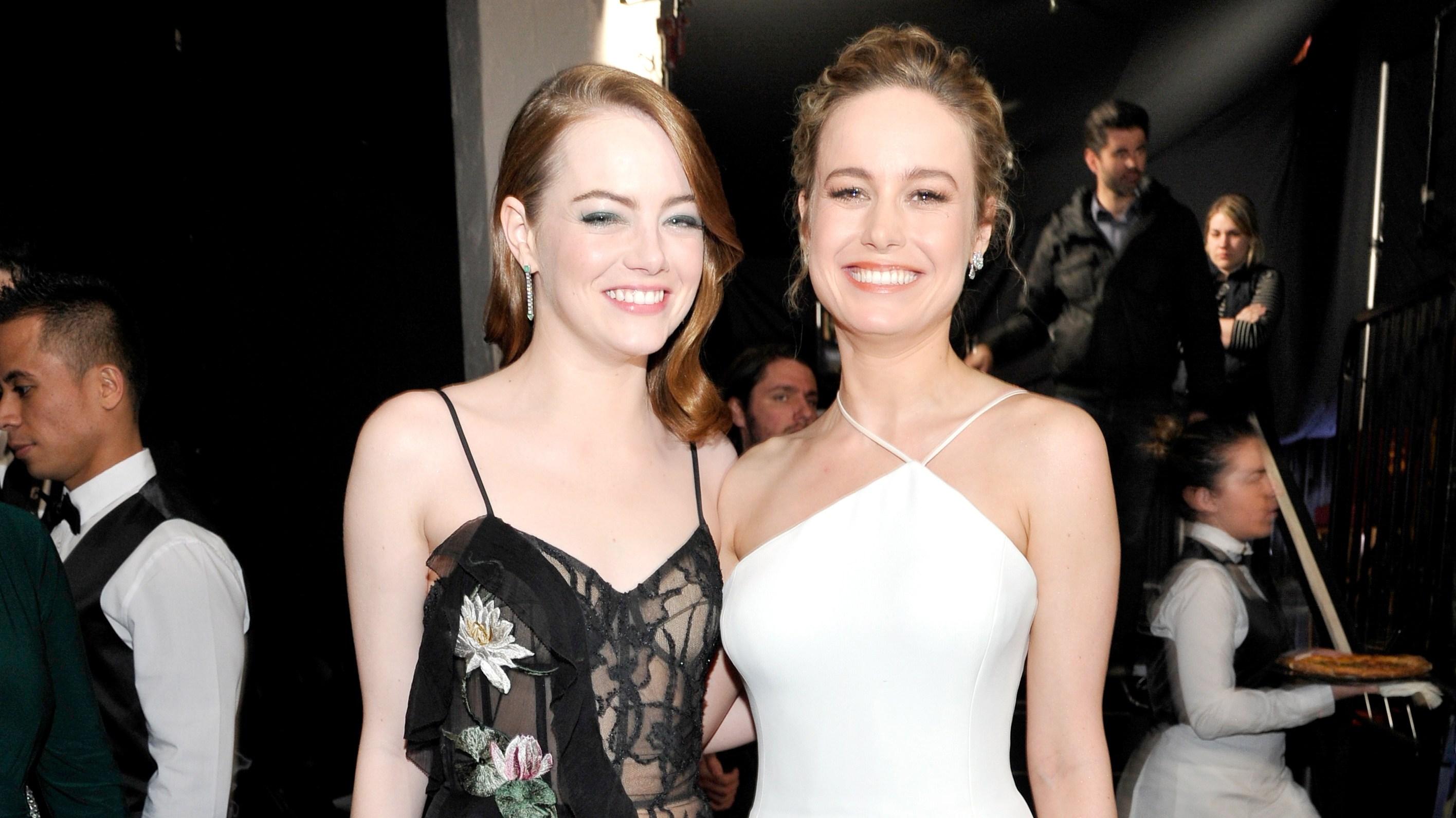 Emma Stone and Brie Larson in L.A.