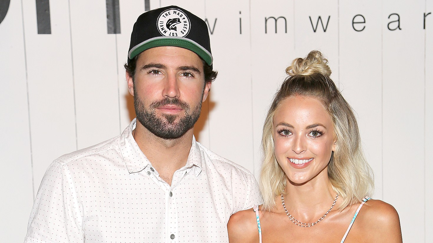 Brody Jenner and Kaitlynn Carter attend the Tori Praver fashion show during FUNKSHION: Fashion Week Miami Beach Swim at the FUNKSHION Tent on July 18, 2015 in Miami Beach, Florida.