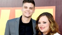 Tyler Baltierra and Catelynn Lowell attend The 2015 MTV Movie Awards at Nokia Theatre L.A. Live on April 12, 2015 in Los Angeles, California.