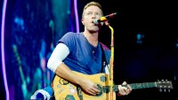 Chris Martin from Coldplay performs at Stade de France on July 15, 2017 in Paris, France.