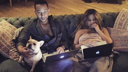 Chrissy Teigen and John Legend snuggle up for some romance