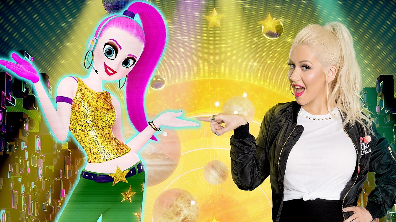 Christina Aguilera plays Akiko Glitter in the Emoji Movie