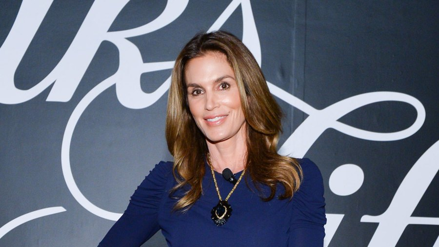 Cindy Crawford attends Saks Fifth Avenue private cocktail and Q & A with Fern Mallis