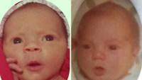Coco Austin and baby Chanel look very similar in these photos