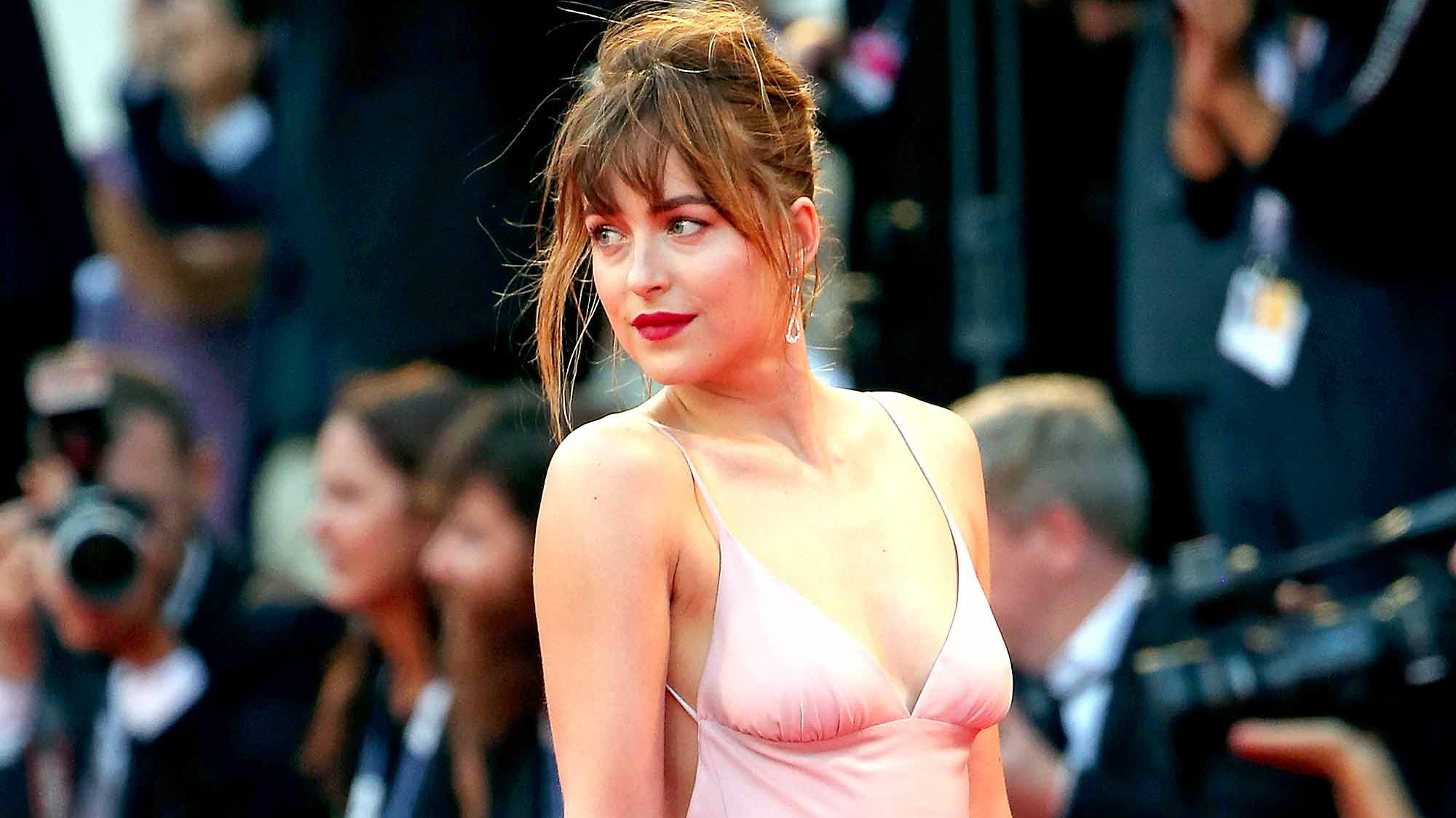 Dakota Johnson attends the premiere for 'Black Mass' during the 72nd Venice Film Festival on September 4, 2015 in Venice, Italy.